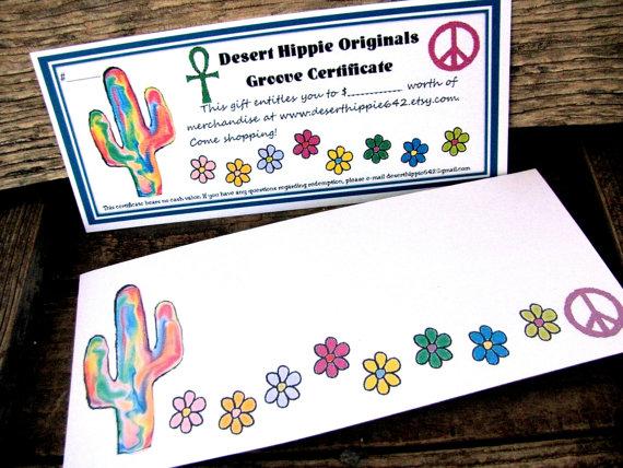 Desert Hippie Originals Gift Certificate by DesertHippie642
