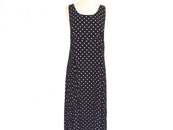 90's Polka Dot Summer Dress size – M by NightAfterNight