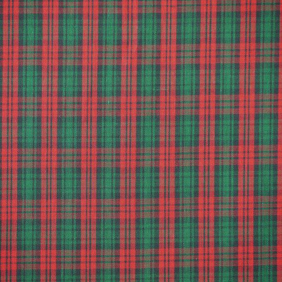Red Green Tartan Plaid Shirting, Yarn Dyed Fabric, Summer, Lightweight Cotton, half yard, B20 by DartingDogFabric