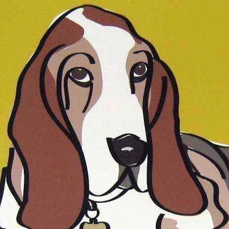 Soulful a Basset Hound in the Limited Edition Giclee Dog Series by studio1212