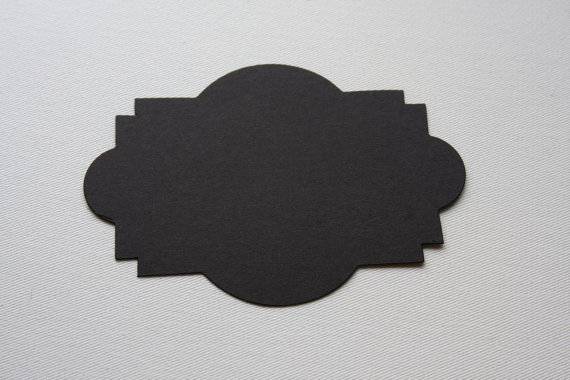 Chalkboard Tag Sticker Labels, Decorative Sign, 5 inch by bugaboo