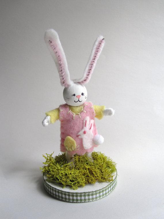 Little Girl Bunny Art Doll by peasoup