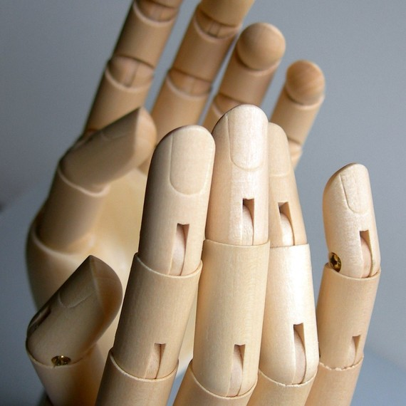 PAIR Wooden Mannequin Display Hands SMALL 6 inch SET – Manikin New by grafix