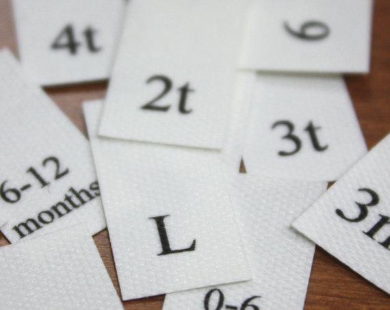 150 size tabs poly cotton fabric UNCUT by JennifersJewels