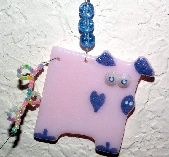 Pig Glass Ornament by 2GlassyBroads