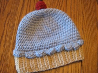 Blueberry Cupcake Beanie by Crochetandmore