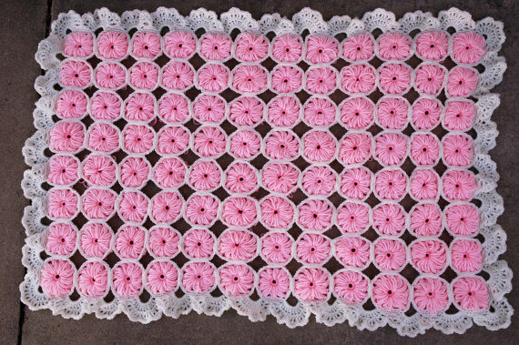 Vintage Crochet Baby Blanket Pattern PDF by juliebell