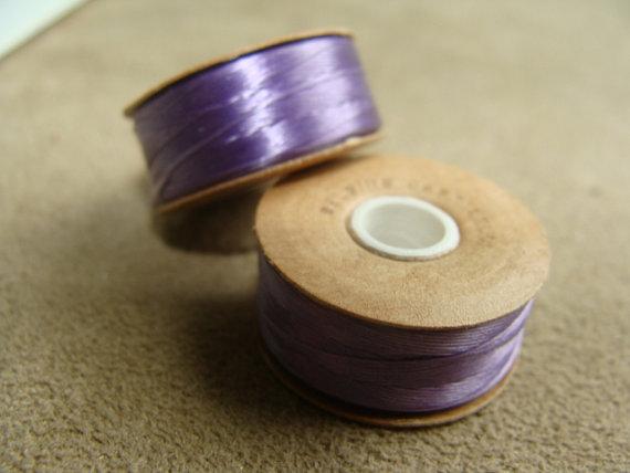 Lavender Nymo Thread, size D, 2 Spools, 64 Yards each by mermaidsgems