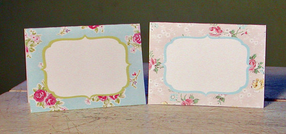 Instant Download Vintage Party Shabby Chic Printable Place Cards by WhenIWasYourAge