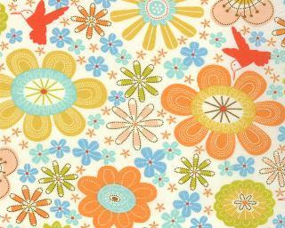SALE – Wrens and Friends – Floral Cream by Gina Martin from Moda by JAQSFabrics
