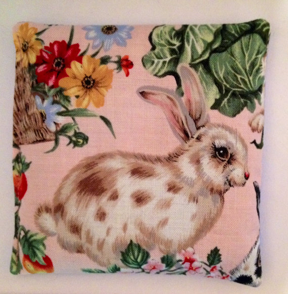 4×4 Bunny Pink Fabric Lentils Rice Bag Heat Cold Therapy & Applying Nail Wraps by ByBethany1990