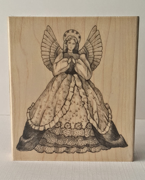 Angelic Angel Mounted Rubber Stamping Block DIY cards, scrapbooking, tags, Greeting Cards, and Scrapbooking by Inkadinkado by theLADYandtheSTAMPS