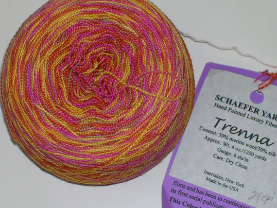 Schaefer & quot; Trenna & quot; Silk / Wool Lace Weight Yarn – discontinued by creativemoments