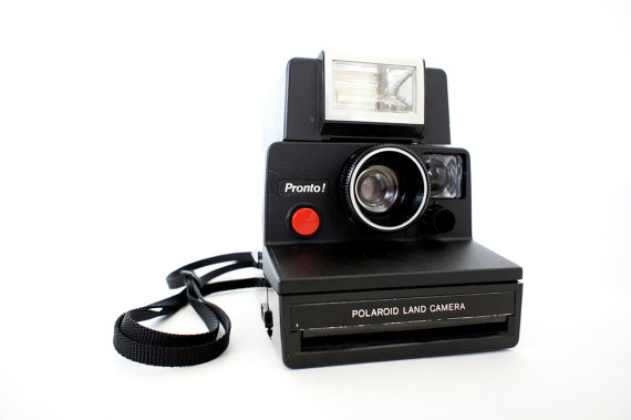 Black Polaroid Camera Pronto SX-70 & Eletronic Flash – Film Tested Working by ForgottenCharm
