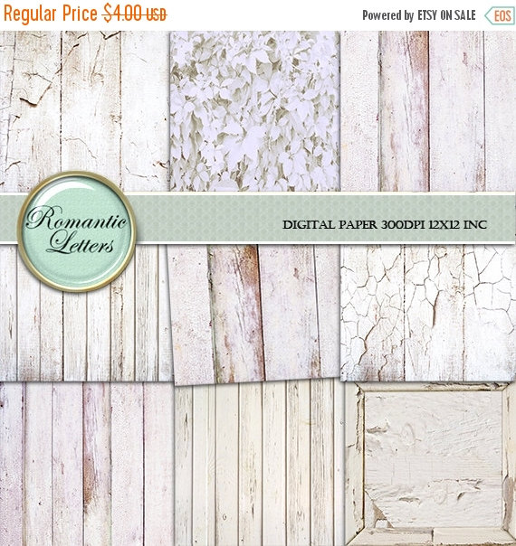 SALE White Wood digital paper painted wood scrapbook paper pack texture wedding Background wood backdrop newborn digital backdrop shabby ch by RomanticLetters