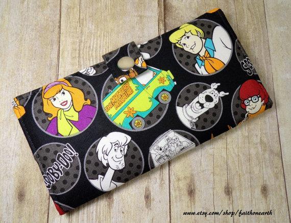 Handmade Long fandom geek Wallet BiFold Clutch – Vegan Wallet – Scooby Doo and the Gang Mystery Machine by FaithOnEarth