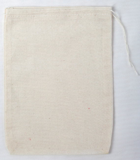 50 5×7 Cotton Muslin Natural Drawstring Bags by CelestialGifts
