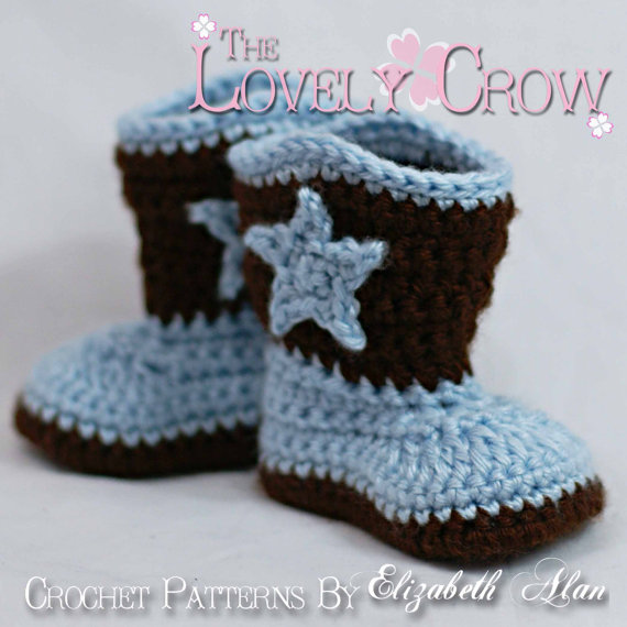 Cowboy Boots Crochet Pattern for Baby BOOT SCOOT'N BOOTS digital by TheLovelyCrow