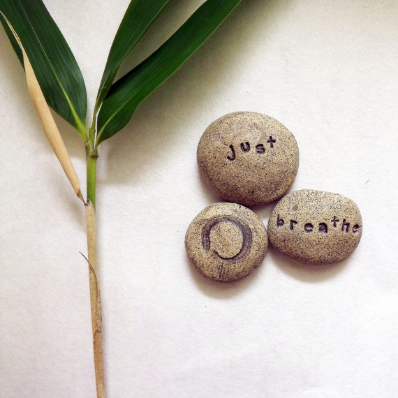 Zen Pebbles, Stoneware Clay, Mimimalist Home Decor– Made to Order by StudioByTheForest