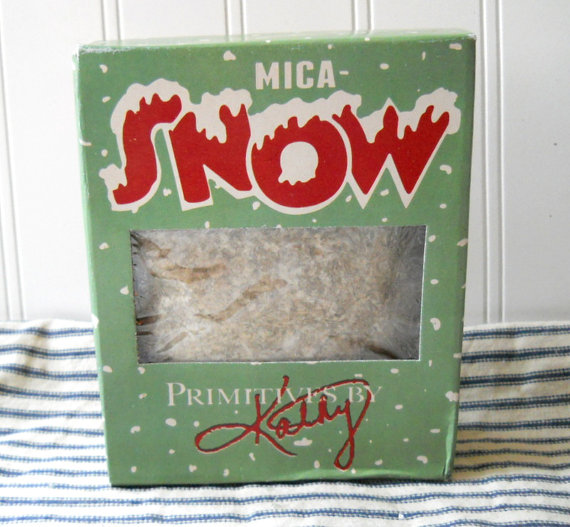 Mica flakes Mica snow flakes for crafting glitter supply vintage Christmas style by hopeandjoystudios