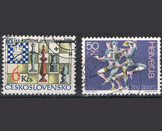 37 Postage Stamps – Individual Sports by P8iosities