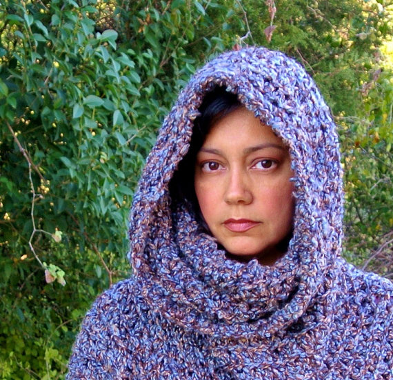 Crochet Pattern Cowl Hooded Capelet Poncho – Easy for Child to Plus Size or Breastfeeding Coverup – p148 by SimplyCollectible