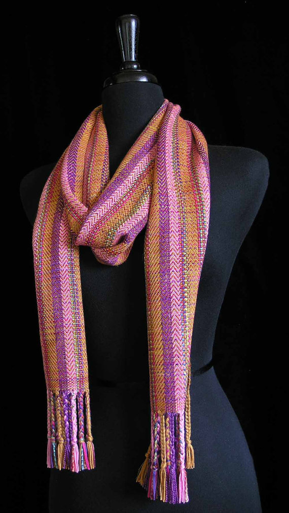 Handwoven Scarf Hand Dyed Bamboo Scarf Long Scarf Scarf Shawl Wrap Free Shopping in USA – Regency by FiberFusion