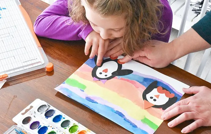 Gluing The Penguin Crafts