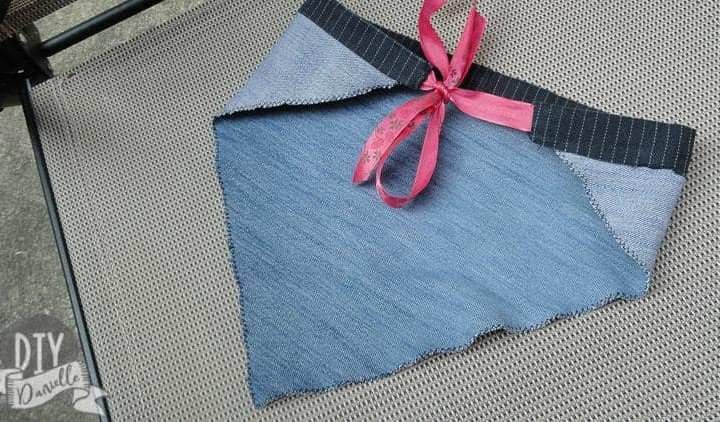 How to Make a Denim Kerchief with Upcycled Jeans