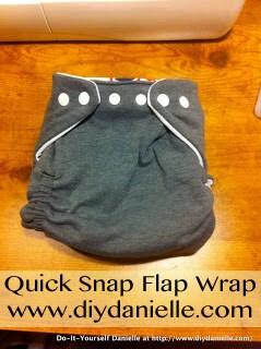 DIY Cloth Diapers: Quick Snap Flap Wrap (QSFW)