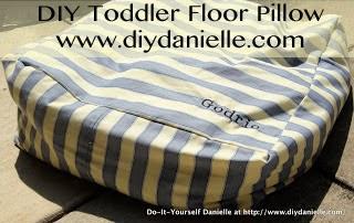 DIY Toddler Floor Pillow - DIY Danielle