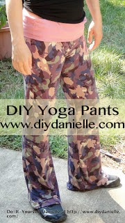 Yoga Pants in Pink and Purple Camo