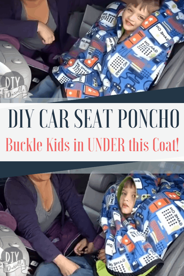 How to make an easy car seat poncho. This free pattern is perfect for running errands.