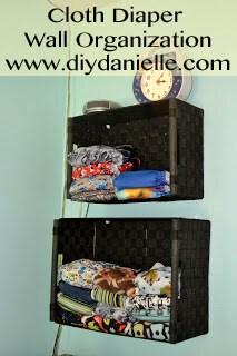 Cloth Diaper Wall Organization