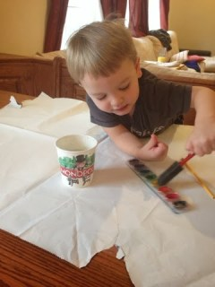 how to upcycle wrapping paper for children's artwork