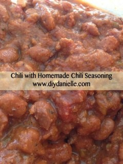 Amazing chili with homemade chili seasoning