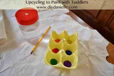 How to paint with toddlers