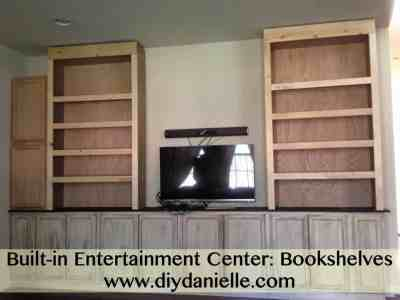 How to make bookshelves for your built-in entertainment center.