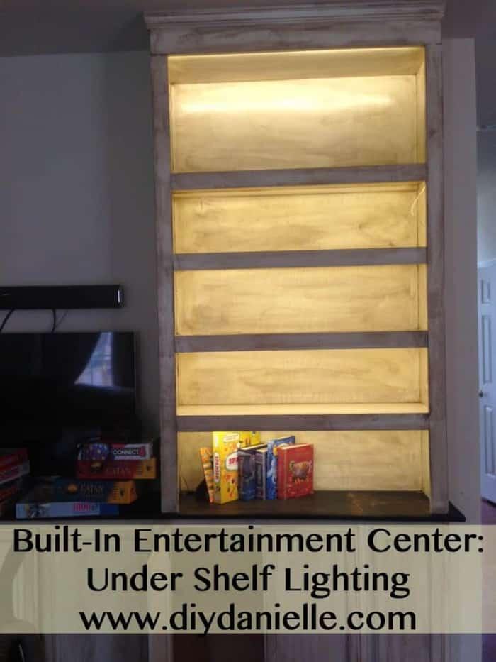 Very Built-In Entertainment Center: Lighting - DIY Danielle EP86