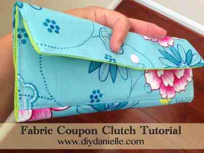 Fabric Coupon Clutch Tutorial
