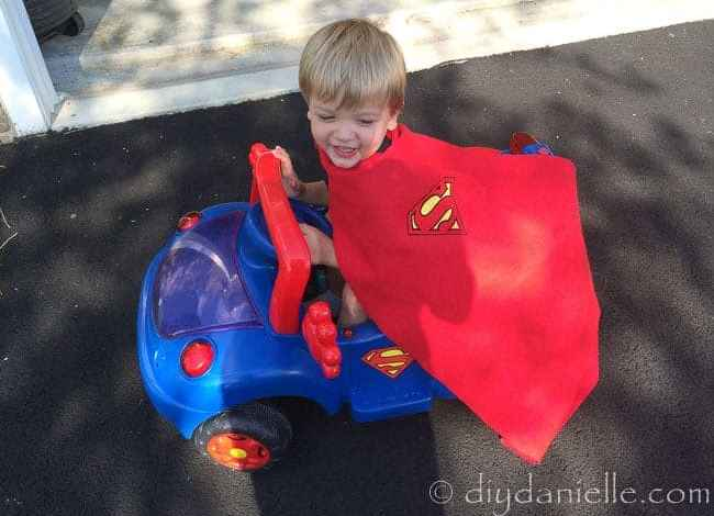 How to Make a Superhero Cape Without Sewing