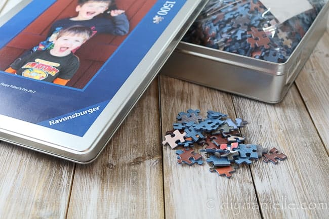 A photo puzzle is the perfect gift for grandparents.