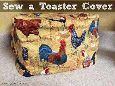 My mom asked me to sew a toaster cover for her kitchen. I used this great rooster fabric that we found, and I also made a coordinating table runner. Love how these turned out. I also included a video tutorial for the project!