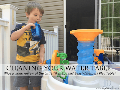 Cleaning Your Water Table {Plus a video review of the Little Tikes Spiralin' Seas Waterpark Play Table}