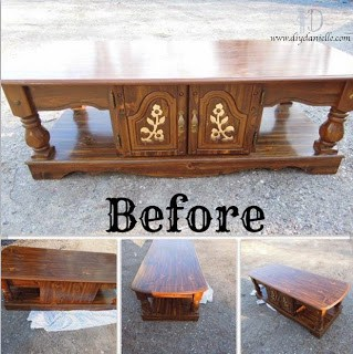 A Simple Makeover for a $10 Coffee Table