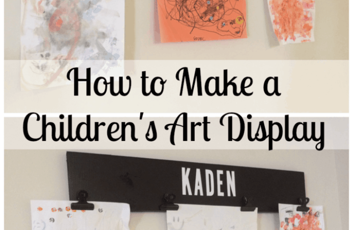 How to Make a Simple Children's Artwork Display