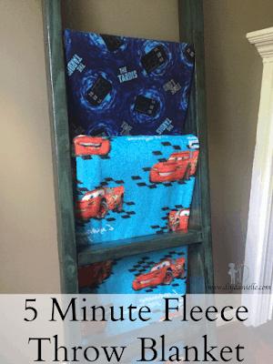 5 Minute Fleece Throw Blanket