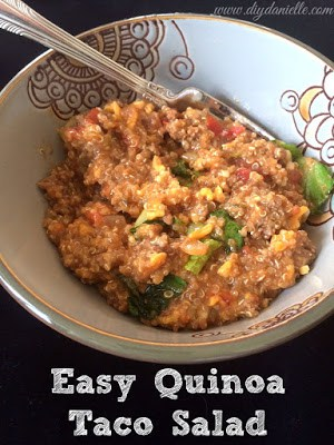 How to make a quick and easy quinoa taco salad.