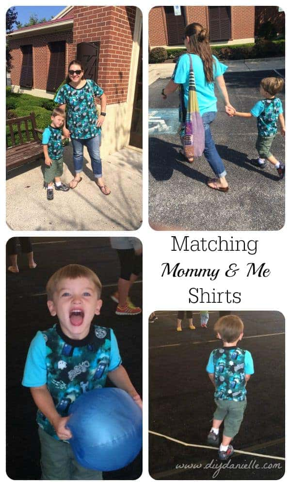 I made these matching shirts for my son and I. He loves his Dr. Who shirt! #sewing #kids