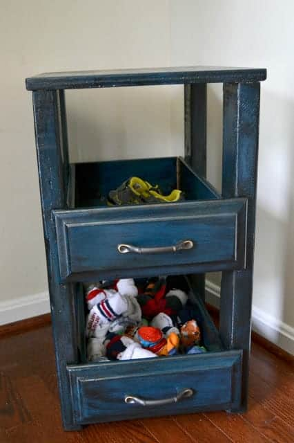 These drawers hold our shoes and socks. It makes getting the kids out of the house much easier.  #Fueltheiradventures #AD